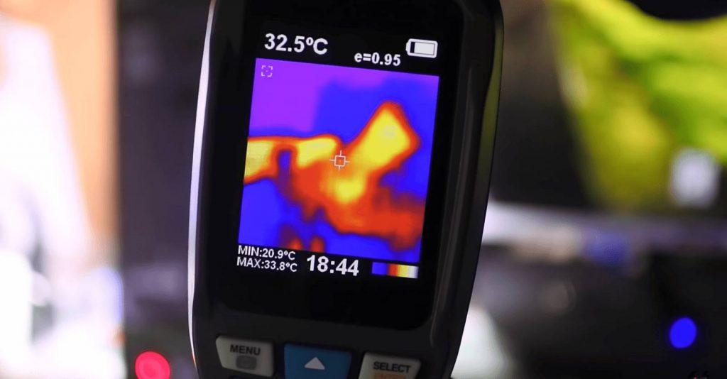 измерение равномерной прожарки тепловизором
