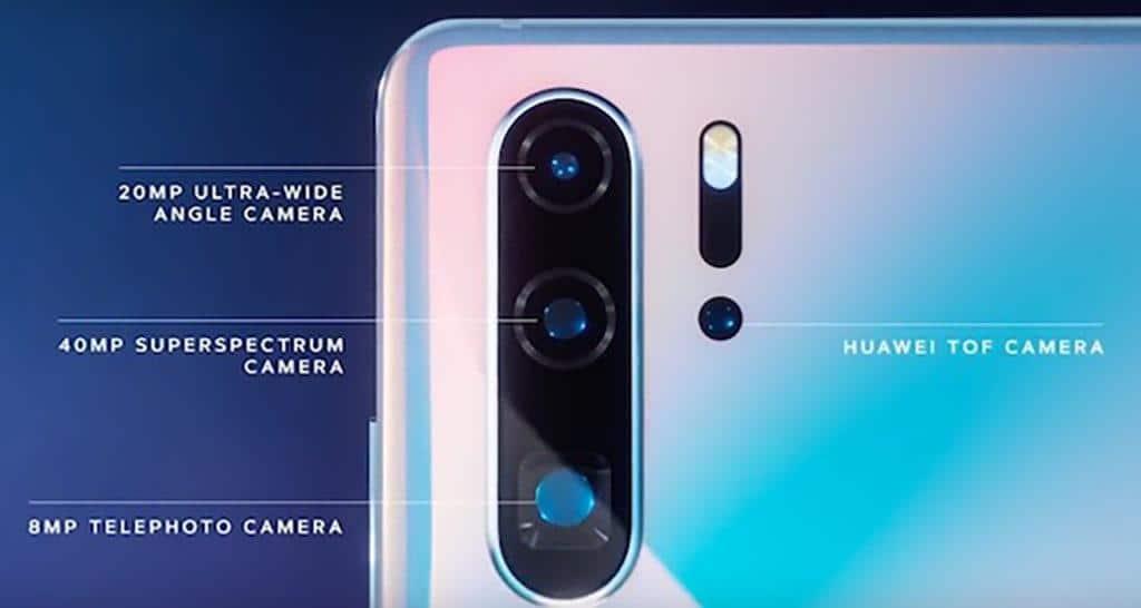 4 камеры HUAWEI P30 Pro