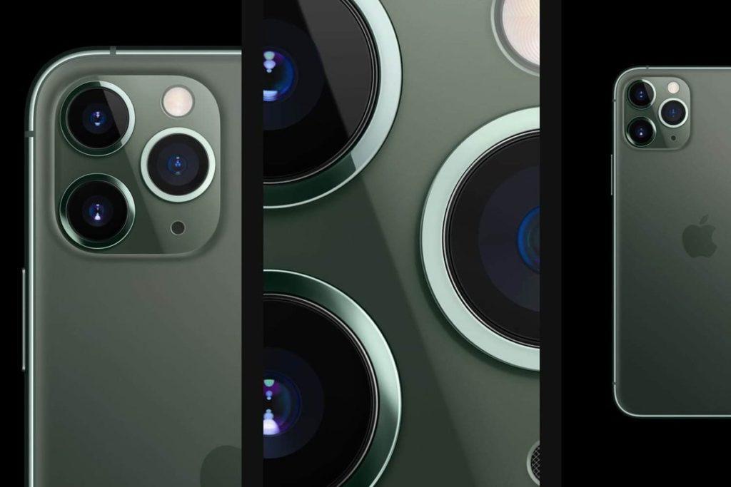 На задней панели iPhone 11 Pro три камеры