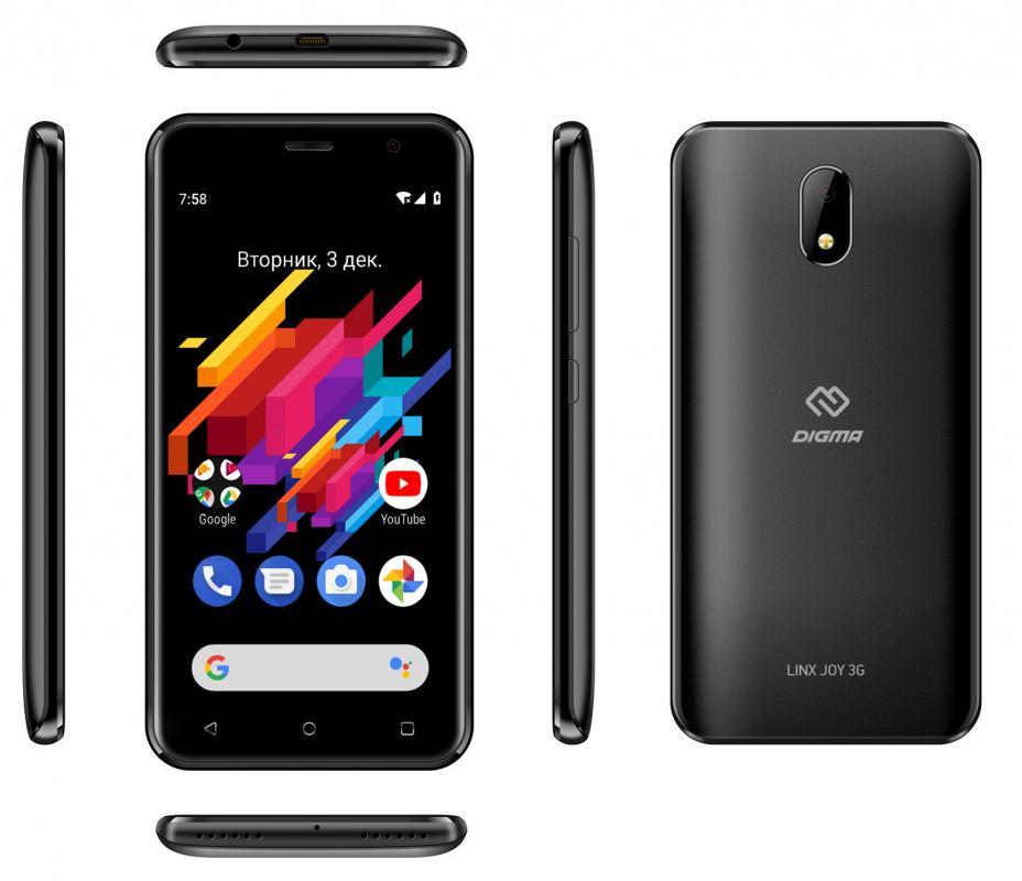 Лучшие смартфоны на Андроид 2020 Digma LINX JOY 3G
