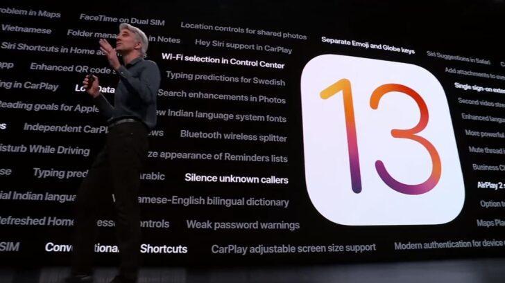 Презентация обновления iOS 13