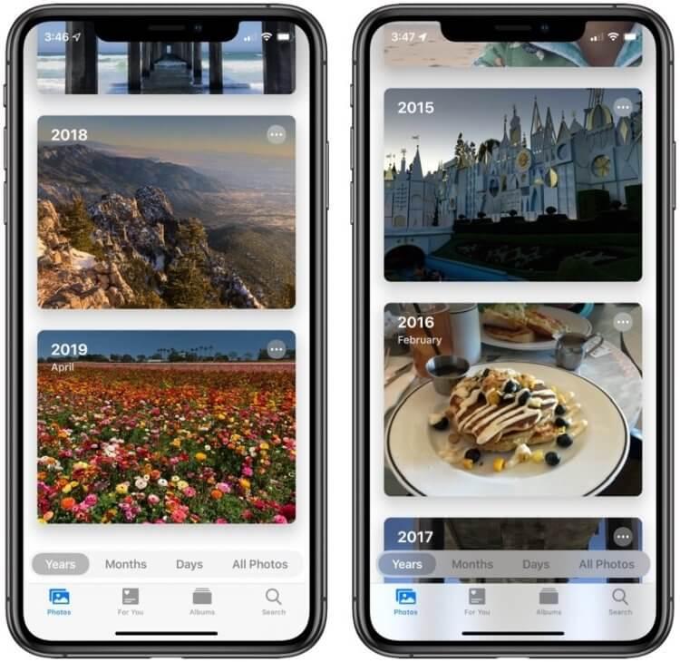 Обновленный фотоальбом iOS 13